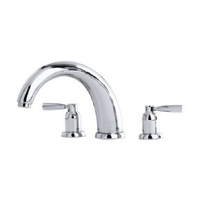"3858 Perrin & Rowe 10"" Three Hole Bath Tap Set Lever"
